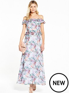 v-by-very-printed-cold-shoulder-maxi-dress