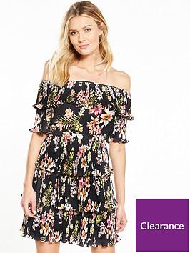 v-by-very-bardot-pleated-ruffle-dress