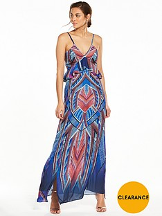 v-by-very-ruffe-front-printed-maxi-dress