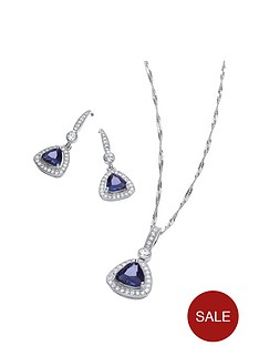 buckley-london-buckley-rhodium-cushion-trillion-pendant-and-drop-earring-set