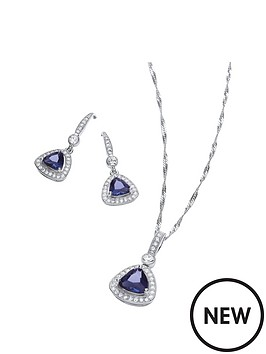 buckley-london-buckley-rhodium-cushion-trillion-pendant-and-drop-earring-set