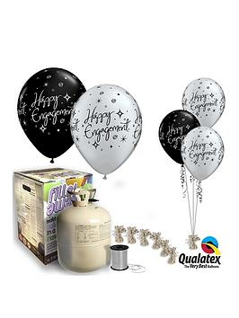 Happy Engagement Helium Canister &Amp Balloon Kit