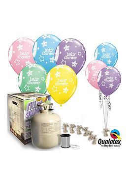 Baby Shower Helium Canister &Amp Balloon Kit