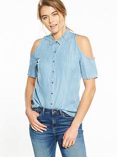 superdry-cold-shoulder-tencel-shirt