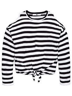 v-by-very-girls-cold-shoulder-stripe-knit