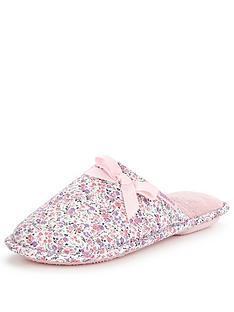 totes-isotoner-totes-pink-floral-memory-foam-mule-slipper