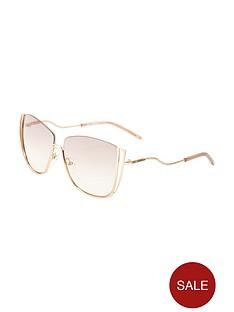 karl-lagerfeld-semi-rimless-cut-out-sunglasses