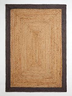 ideal-home-jute-border-rug