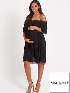 rochelle-humes-maternity-dress-ndash-black