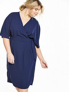 so-fabulous-curve-woven-wrap-kimono-sleeve-dress-navy