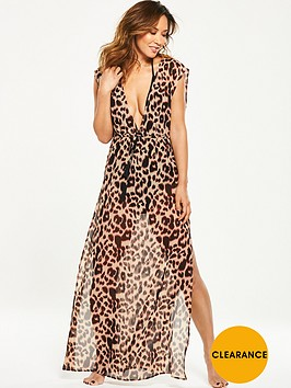 myleene-klass-leopard-print-sheer-beach-maxi-dress