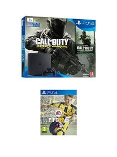 playstation-4-slim-1tb-console-with-call-of-duty-infinite-warfare-and-fifa-17-plus-optional-extra-controller-andor-12-months-playstation-network