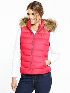 hilfiger-denim-down-vest-rose-red