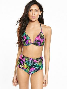V By Very High Waist Triangle Bikini Set