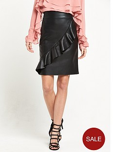 vero-moda-shane-ruffle-butter-pu-skirt