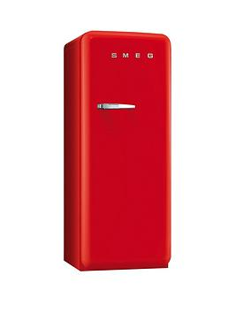 Smeg Fab28Qr1 60Cm 1950S Style Red Right Hand Hinged Fridge With Icebox  Red