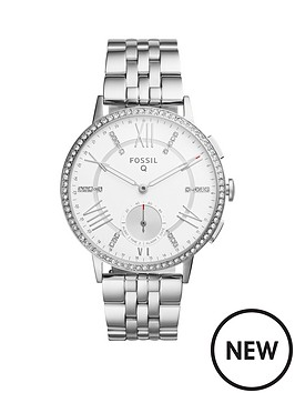 fossil-fossil-q-gazer-rose-dial-leather-strap-ladies-hybrid-smart-watch