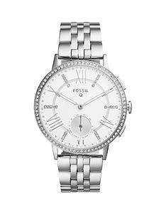 fossil-q-gazer-white-dial-stainless-steel-bracelet-ladies-hybrid-smart-watch