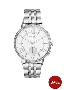 fossil-q-gazer-white-dial-stainless-steel-bracelet-ladies-hybrid-smart-watch