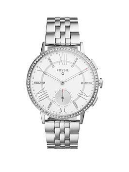 Fossil Q Gazer White Dial Stainless Steel Bracelet Ladies Hybrid Smart Watch