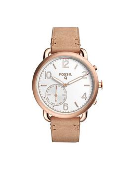 Fossil Fossil Q Tailor White Dial Leather Strap Ladies Hybrid Smart Watch