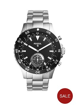 fossil-q-crewmaster-black-dial-stainless-steel-mens-hybrid-smart-watch