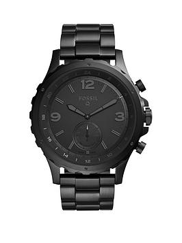 Fossil Fossil Q Nate Black Dial Black Strap Mens Hybrid Smart Watch