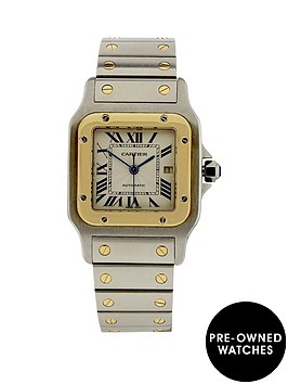 cartier-cartier-preowned-santos-automatic-silver-guilloche-dial-reference-2319-mens-watch