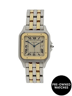 cartier-cartier-preowned-panthere-2-row-quartz-off-white-dial-reference-187957-jumbo-watch