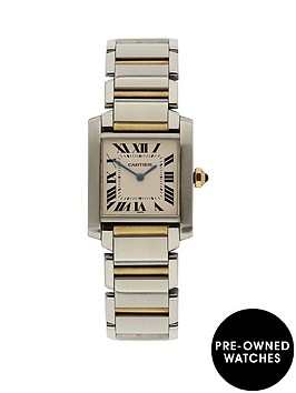 cartier-cartier-preowned-tank-francaise-off-white-dial-black-roman-numerals-reference-w51006q4-midsize-watch