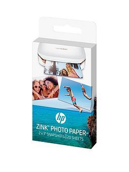 HP  Hp Zink&Reg; Sticky-Backed Sprocket Photo Paper - 20 Sheet / 5 X 7.6 Cm (W4Z13A)
