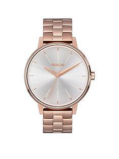 nixon-kensington-white-dial-rose-tone-stainless-steel-bracelet-ladies-watch