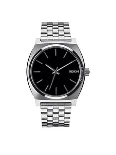nixon-time-teller-black-dial-stainless-steel-bracelet-watch