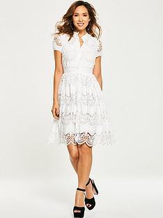 myleene-klass-tiered-lace-skater-dress