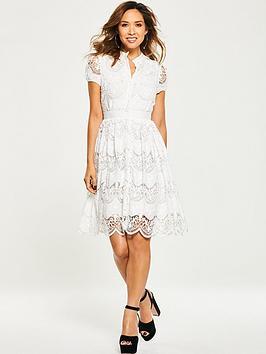 Myleene Klass Tiered Lace Skater Dress