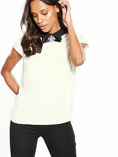ted-baker-bow-collar-cap-slv-top