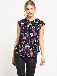ted-baker-folk-foliage-keyhole-top
