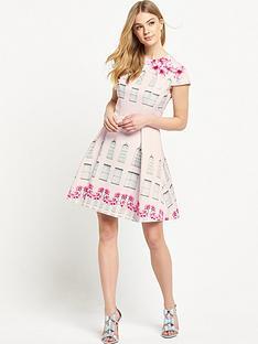 ted-baker-window-box-skater-dress
