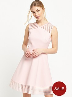 ted-baker-mesh-detail-skater-dress-baby-pink