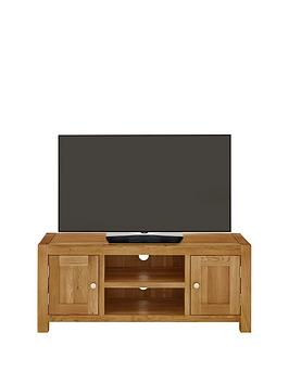 Luxe Collection  Suffolk 100 Solid Oak Ready Assembled Tv Unit  Fits Up To 56 Inch Tv