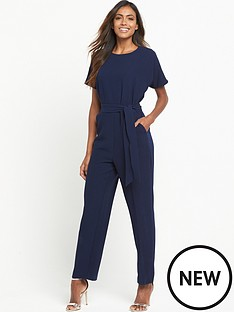 warehouse-straight-leg-jumpsuit-navy
