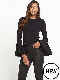 warehouse-fluted-sleeve-jumper