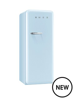 smeg-fab28qaz1-60cm-1950s-style-pastel-blue-right-hand-hinged-fridge-with-icebox-blue