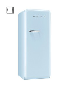 smeg-fab28qaz1-60cm-1950s-style-pastel-blue-right-hand-hinged-fridge-with-icebox-blue