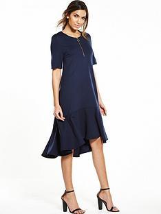 warehouse-zip-pull-dress-navy