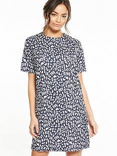warehouse-lupita-animal-shift-dress