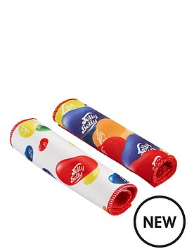 qdos-jelly-belly-2-x-multi-coloured-print-cleaning-cloths