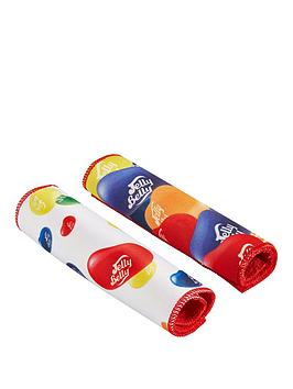 Qdos Jelly Belly 2X MultiColoured Print Cleaning Cloths