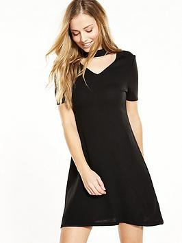 V By Very Petite Petite Keyhole Knitted Dress  Black
