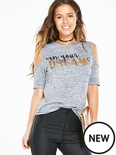 v-by-very-petite-petite-cold-shoulder-slogan-top